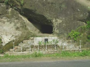A natural cave on the way to Kohima from Dimapur