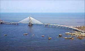 In Mumbai Bandra-Worli Sea Link