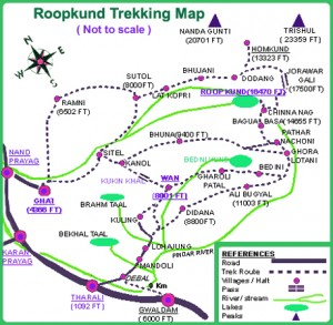 Roopkund Trek Map
